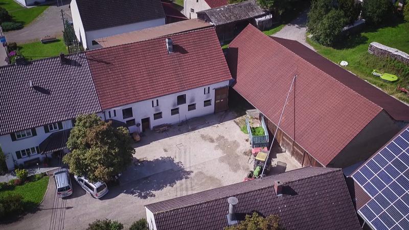 Luftaufnahme der alten Hofstelle