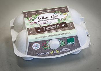 Eierschachtel für 6er Eier vom Hasenberghof