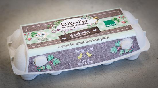 Eierschachtel vom Hasenberghof für 10 Eier