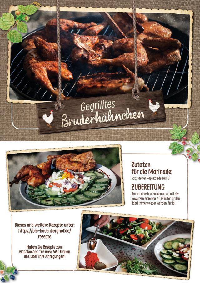 Hasenberghof Rezept gegrilltes Bruderhähnchen